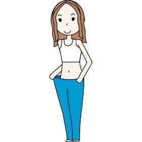 痩せた女性